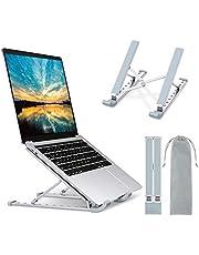 """Babacom Soporte Portatil Mesa 9 Ángulos Adjustable, Aluminio Ventilado Refrigeración Soporte Ordenador Portátil, Plegable Soporte para Portatil, para Macbook, PC, Lenovo y Otro 10-15.6"""" Portatiles"""