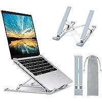 "Babacom Soporte Portatil, Aluminio Ventilado Soporte para Portatil Mesa, 9 Niveles Adjustable Laptop Stand Soporte Ordenador Portátil para Macbook Pro Air, Lenovo, DELL y Otros 10-15.6""Portatiles"
