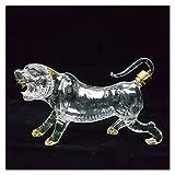 AMDHZ 12 Decantador de Cristal del Zodiaco Chino, decantador de Vidrio de Whisky, Animal soplado a Mano 12 Botella del Zodiaco Chino, 500 / 1000ml Decantador de Whisky (Color : Tiger, Size : 1000ml)