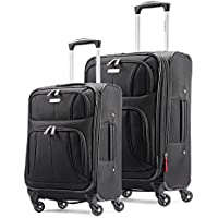 2-Piece Samsonite Aspire Xlite Softside Expandable Luggage with Spinner Wheels (Black)