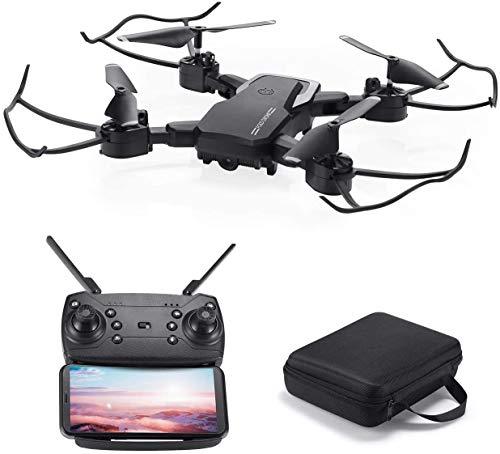 Powerextra Mini Drone con Videocamera per Bambini e Adulti - Giroscopio a 6 Assi Quadricottero RC con Telecomando WiFi HD Camera FPV 2.4GHz 3D Flip e