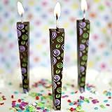 Premium Chocolate Birthday Candles, Edible Cake Topper, Non-Melting, Dark Chocolate, Spirals, Pack of 3