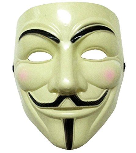 Inception Pro Infinite Maschera - Colore Giallo - Carnevale - Halloween - Donna - Uomo - V Per Vendetta - Guy Fawkes - Film - Famoso - Anonymous