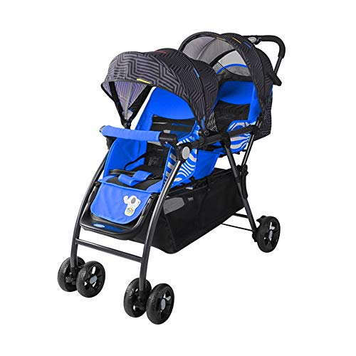 Amazing Deal Miaosilandian Double Stroller Twin Baby Cart Sitting Back and Forth Baby Carriage Light...