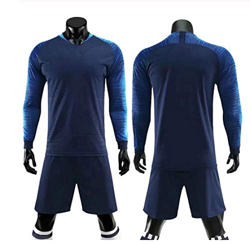 XIAOL Nieuwe Jongen Voetbal Lange Mouwen Jersey Set Mannen Kids Voetbal Training Uniforms Kind Vrouwen Voetbal Trainingspakken Sport Suits