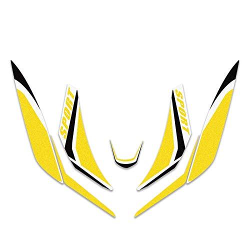 Para Honda SH125 SH 125 Motocicleta Frontal Cuerpo A prueba de agua Calcomanía Etiqueta de carenado Super Sticky Kit Proteger calcomanías decorativas (Color : E)