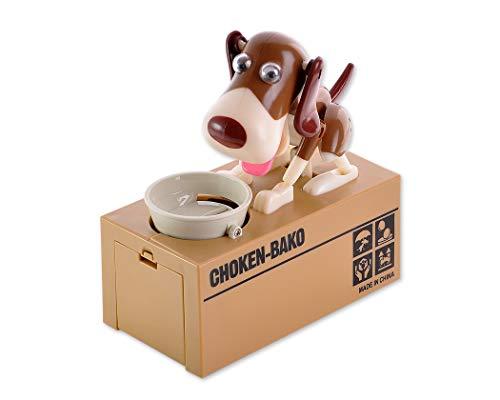 ds. distinctive style DSstyles Perro Hambriento Caja de Ahorro de Dinero Piggybox Comer Moneda de Munching Toy Regalo de Cumpleaños Ideal, Niños