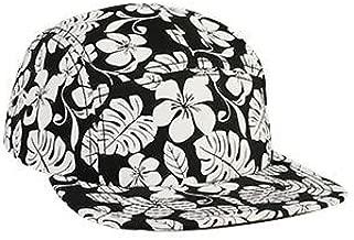 OTTO Wholesale 12 x Hawaiian Pattern Square Flat Visor Snapback 5 Panel Camper Hat - (12 Pcs)