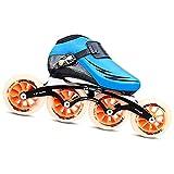 CNMJI Patines en Línea Niños/Niñas Patines Ajustables Rollerblade Zapatos de Skate Inline Skates Patines Deportivos para Exteriores/Interiores niños como Regalo de cumpleaños,Azul,45