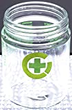 3.5 Gram Glass Jars Branded with Green Cross and Warning Language (Cases of 72)