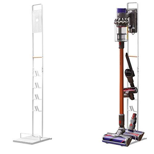 BRIAN & DANY Soporte para Aspirador, Soporte Metálico para Aspiradores sin Cables y Accesorios Dyson V11 V10 V8 V7 V6, Blanco