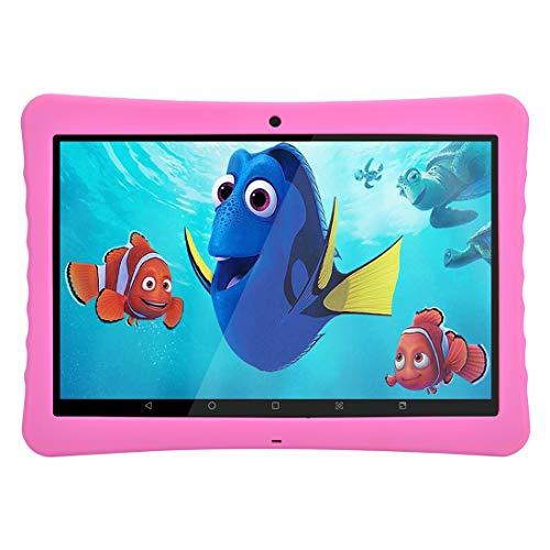 Tablet PC per bambini Tablet Android,Kids Tablet,Android,Full HD,10 Inches,BENEVE (Rosa)