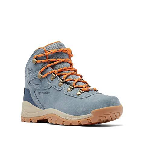 Columbia Newton Ridge Plus Waterproof Amped, Zapatos para Senderismo Mujer, Mercurio Naranja Claro, 37 EU