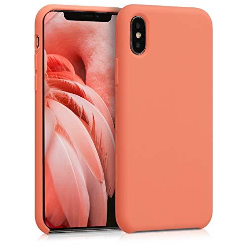 kwmobile Coque pour Apple iPhone X - Coque Housse - Housse de téléphone Papaye
