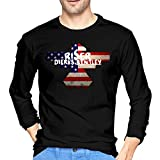 Dierks Bentley Men's Long Sleeve T Shirt Fashion Classic Round Neck Long Sleeve Cotton Tee XL Black