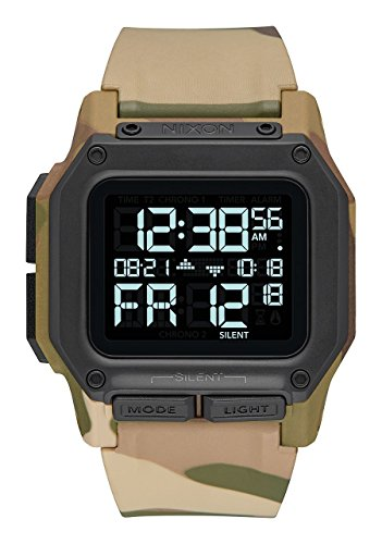 Nixon Herren Digital Smart Watch Armbanduhr mit PU Armband A1180-2865-00