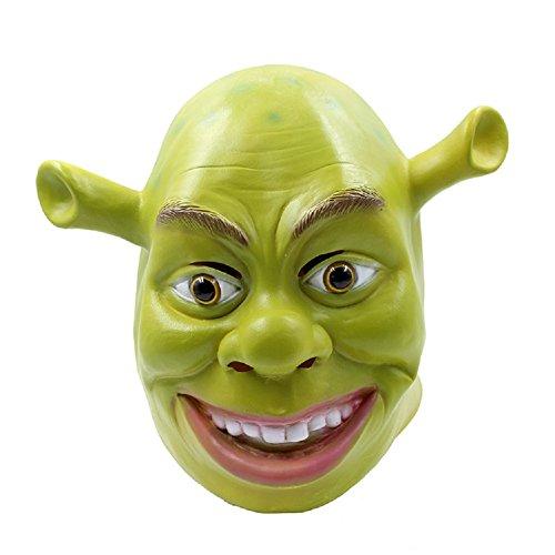 Shrek Maske Kostüm Maske Halloween Cosplay Vollkopf Grün Erwachsene Shrek Maske Latex