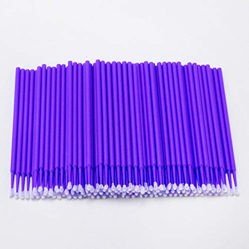 Ssg 100PCS Tattoo Cotton Swab Lint Fournitures Brosse Microblading Micro Brosses Applicateur Tattoo Accessoires for le maquillage Nouveau (Color : Dark Purple)