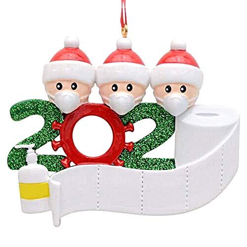 Decdeal Adornos Árbol Navidad Colgantes Muñeco de Nieve Decoración Colgante de Bricolaje Personalizados para Familiares Amigos Fiesta Adornos Navideños Manualidades