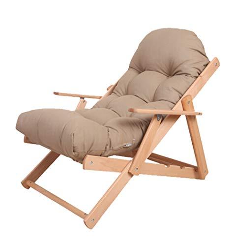 luyiyi Camello de Madera Plegable Lazy-Couch Lavable Dormitorio reclinable Silla de la Siesta de la Oficina Taburete cómodo y Conveniente 57.5 × 100cm
