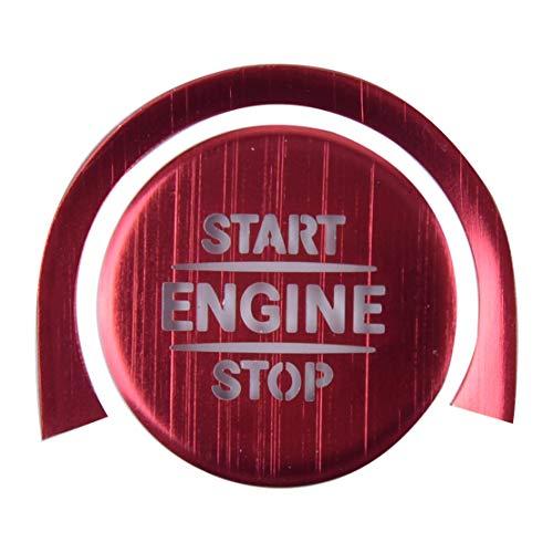 YUNJINGCHENMAN Tapa de metal rojo para interruptor de arranque de motor de coche, para Benz Clase A A220 W177 2019