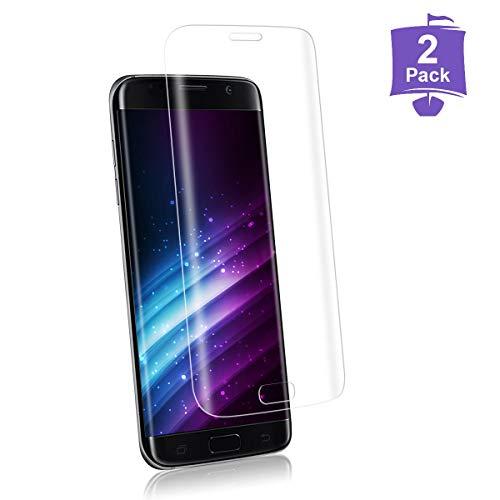 2 Piezas Protector de Pantalla para Samsung S7 Edge,Dureza 9H,Cubierta Completa 3D,Sin Burbujas,Toque 3D,HD Cristal Templado,Anti-Arañazos,Vidrio Templado Película Protectora para S7 Edge-Transparente