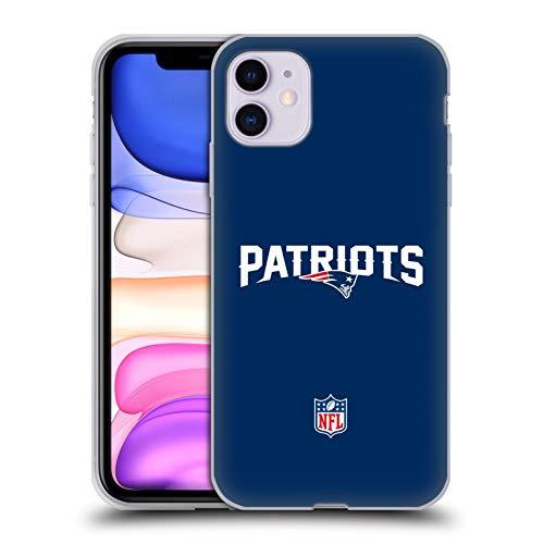 Head Case Designs Offizielle NFL Einfarbig New England Patriots Logo Soft Gel Handyhülle Hülle Huelle kompatibel mit Apple iPhone 11