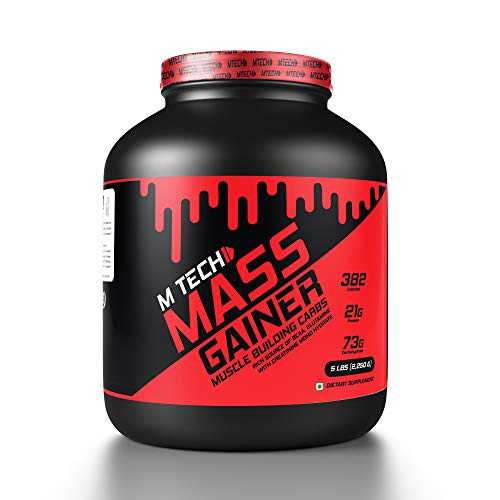 M TECH NUTRITION High Protein Chocolate Flavor MASS Gainer/ Weight Gainer Supplement Powder MUSCLES BULDING CARBS (Weight: 5LBs | 2.26KG)