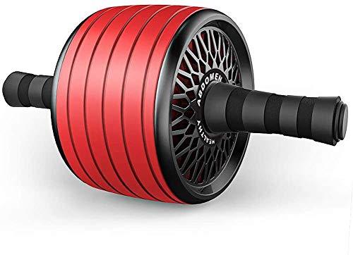 JFZCBXD Abdominal Rad mit übergroßen Rolle, komfortabel Schaumstoffgriff, Silent Bauchrolle, Muskeltrainer für das Muskeltraining,Rot