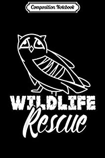 Composition Notebook: WILDLIFE ANIMAL RESCUE Animal rights  Journal/Notebook Blank Lined Ruled 6x9 100 Pages