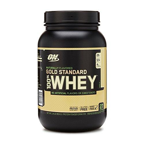 OPTIMUM NUTRITION GOLD STANDARD 100% Whey Protein Powder, Naturally Flavored Vanilla, 1.9 Pound