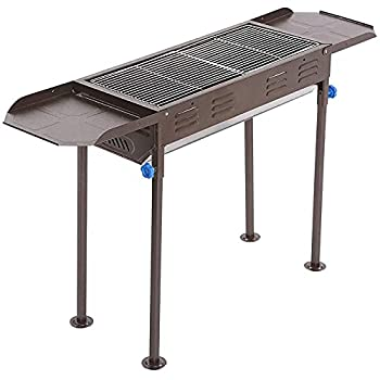 Charcoal Grill Portable BBQ Grill Large Charcoal Grill Folding Barbecue Grill Charcoal Shish Kebab Grill Stainless Steel Camping Grill for Outdoor Picnic Patio Backyard & Camping