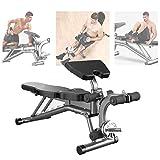 Aocay Banc de Musculation Pliable Multifonction, Sit-Up Banc pour Abdominaux Lombaire, Fitness Banc pour la Maison et la...