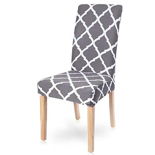 1/2/4/6 stks Elastische Gedrukte Eetkamerstoel Cover Verwijderbare Hoes Anti-vuile Keuken Seat Case Polyester Stretch Stoelhoezen, 13, Verenigde Staten
