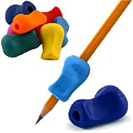 The Pencil Grip Original Pencil Gripper, Universal Ergonomic Writing Aid For Righties And Lefties, Colorful Pencil Grippers, Assorted Colors, 6 Count - TPG-11106