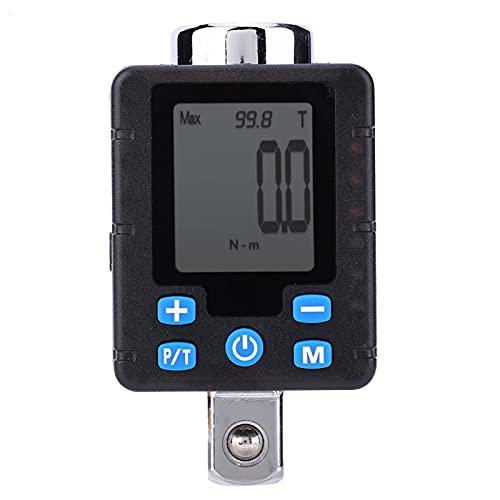 Medidor de torque de pantalla digital electrónico de alta precisión Llaves de torque digitales ajustables Llave adaptadora Herramienta de enchufe Medidor de medición de torsión de acero(DBA4-340)
