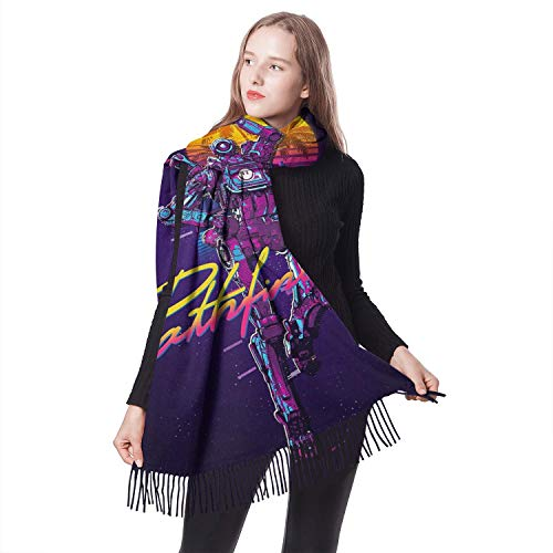LUJXN Women's Winter Warm Shawl Scarf Elegant Lasting Stole Scarf Cashmere Feeling Large Super Soft Blanket Scarves