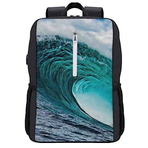 Waves Ocean Waves Cool Mochila para estudiante – Escuela, Viaje o Trabajo Librería con 15,6 pulgadas portátil