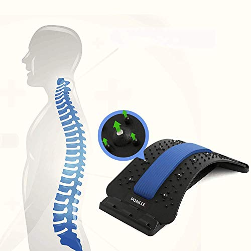 Lower Back Stretcher with Magnetic Acupressure Points Multi-Level Lumbar Support Lumbar for Pain...
