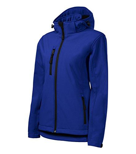 OwnDesigner by Adler Damen Outdoor Softshelljacke mit Kapuze - Winddicht Funktions Regen Wasserabweisend Atmungsaktiv Tailliert Jacke (521-Blau-M)