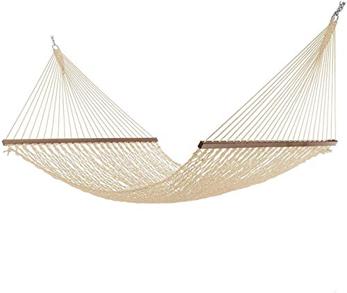 Project One Large 13FT Rope Hammock, Quick Dry Rope Hammock with Double Size Solid Wood Spreader Bar...