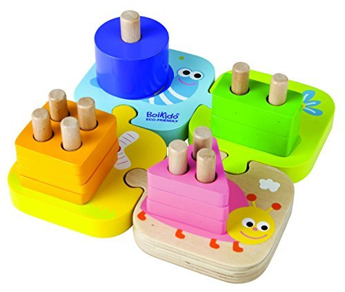 Boikido Wooden Geometric Stacking Puzzle by Boikido