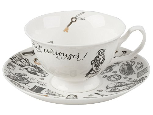 V&A Alice in Wonderland Tasse mit Untertasse, 210 ml (7 fl oz)