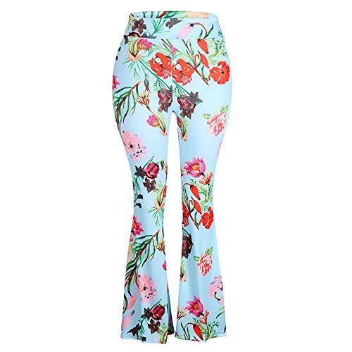 Dames lange lente vintage herfst elegant bloemenpatroon klok broek slim modieus compleet fit mode palazzo broek vrijetijdsbroek