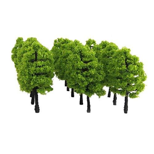 Casecover 20pcs 1,38 Pulgadas Modelo De árboles De Tren Árboles 1: 100 De Plástico Mini...