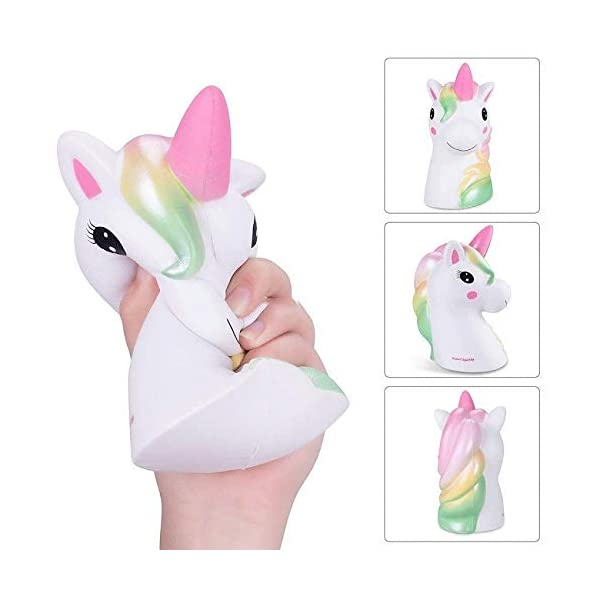 YXJC Fun Toys Squishies, Starry Unicorn Squishy, Creamy Aroma Slow Rising Squeeze Toys for Boys and Girls Gifts (Color : Colorful) 5