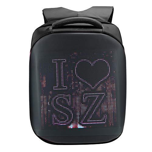 ASHATA Mochila LED Impermeable de 20 litros Mochila de diseño ergonómico Cómodo Soporte de Mano WiFi, GPRS, GPS, 4G(Black)