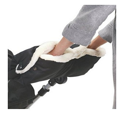 Pushchair Winter Pram Warm Gloves w// Phone Pocket Waterproof Stroller Hand Muff