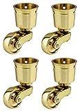 laiton massif de haute qualité Roulettes Roulettes avec roues de 28mm–Véritable solide Laiton...