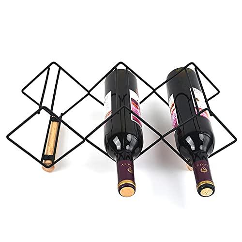 Olymajy estantería de Vino,Wine Rack Horizontal,estantería de Vino para Botellas, en diseño único - Estable, Duradero y Moderno - Elegante botellero para su colección de Vino doméstica